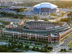 Arlington, TX -- Baseball, football and amusement parks. Lots of fun to be had here.