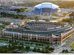 Arlington TX ( Ranger and Cowboy stadiums)