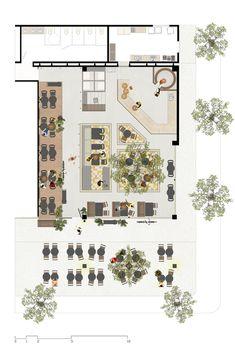 15 mejores im genes de planos de restaurantes restaurant for Planos de bares pequenos
