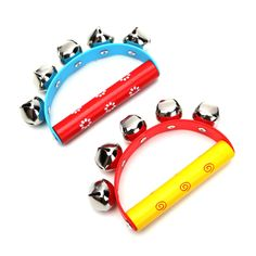 2Pcs Babies Kids Held Tambourine Percussion Rattles Musical Instrument Toys