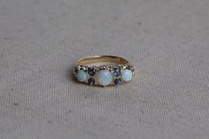 Antique Early 1900's Edwardian 14k Gold Opal and Sapphire Engagement Ring Setting - Size 5 1/2 Vintage Filigree Fine Jewelry by CalhounsJewelers on Etsy https://www.etsy.com/au/listing/264011909/antique-early-1900s-edwardian-14k-gold