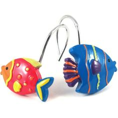 Jumping Beans Fish Tales 12 pk Shower Curtain Hooks