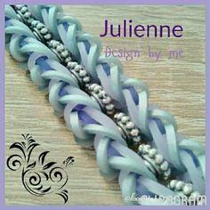 Rainbow loom Julienne bracelet hook only flipagram by loomania0304 on instagram.