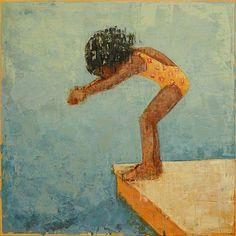 Artist Rebecca Kinkead - Dive No. Black Girl Art, Art Girl, African American Artwork, Black Artwork, Brian Froud, Luis Royo, Painting Inspiration, New Art, Art For Kids