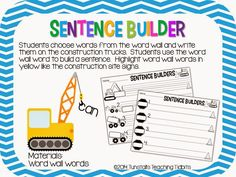 Tunstall's Teaching Tidbits: Word Wall Centers For Any Word Wall!