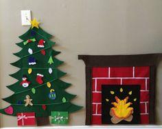 Árbol de Navidad de fieltro y chimenea por CreativityCustomized