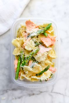Creamy Bow Tie Pasta with Salmon and Asparagus   foodiecrush.com