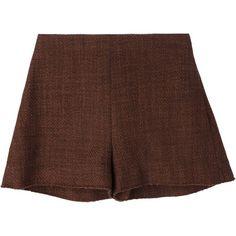 Marni wide leg shorts featuring polyvore, fashion, clothing, shorts, brown, mid rise shorts, marni and brown shorts