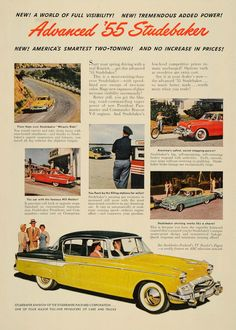 1955 Ad Studebaker Packard Automobile Features Gas Pump - ORIGINAL TM3