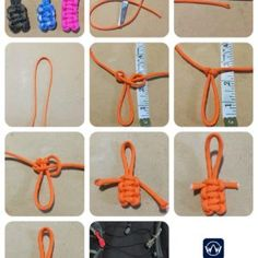 How To Make An Emperor Parabuddy Paracord Zipper Pull Lanyard Tutorial Paracord Zipper Pull, Paracord Knots, Paracord Keychain, Rope Knots, Macrame Knots, Paracord Bracelets, Knot Bracelets, Survival Bracelets, Lanyard Tutorial