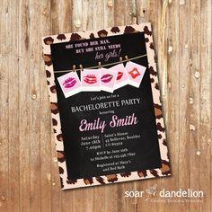 Bridal Shower Printable Invitation. Bachelorette by soardandelion, $9.90