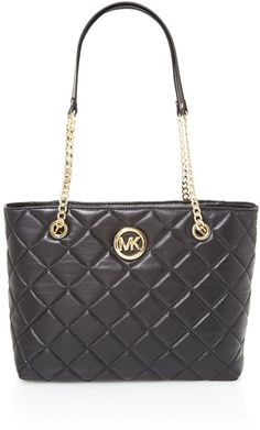 Michael Kors Fulton black quilt tote bag on shopstyle.com