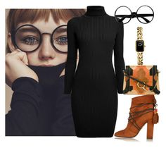 """""""glasses"""" by katleenm ❤ liked on Polyvore featuring Rumour London, Chloé, Aquazzura and Chanel"""