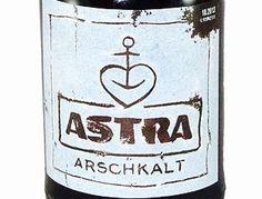 Astra-Arschkalt Bier