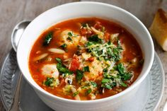 This chicken meatball minestrone gets great flavour from the chorizo sausage.