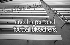 oh in high school, one of the many reasons to love fall.