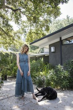 Inside Celebrity Homes: Rustic Style at Laura Dern's LA Home