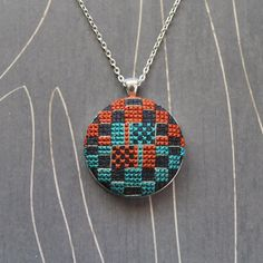 Bauhaus Stitch Necklace/ Pendant silver by TheWerkShoppe on Etsy, $44.00