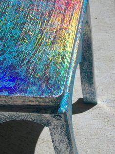 Beautiful Holographic Handpainted Wood by HeatherMontgomeryArt, $49.00