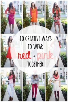 10 Creative Ways to Wear Red and Pink Together for Valentine's Day