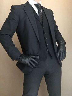 Suit Fashion, Boy Fashion, Korean Fashion, Mens Fashion, Fashion Outfits, Fashion Design, Foto Fantasy, Black Suit Men, La Mode Masculine