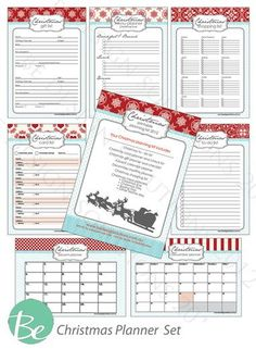 Christmas Planner Set - printable files.  FREE to download! Includes menu plans, shopping lists, gift planner, advent planner, card lists and more. **UPDATED OCT 2014*