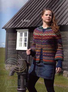 - Icelandic Saga (Story) Women Wool Cardigan Colorful - Tailor Made - Nordic Store Icelandic Wool Sweaters - 1