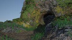 Ma première modélisation sous 3D Studio Max :D   Grotte, 2016, Myriam Azencot