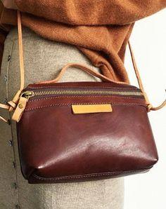 ca663b66b469 Genuine Leather Cute Handbag Crossbody Bag Shoulder Bag Women Leather  Leather Luggage