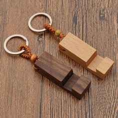 Natural Wood Phone Holder Stand Pendant Keychain Car Keyring Fashion Accessories