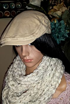 """This Chunky Infinity Scarf will quickly become your favorite, winter """"go to"""" accessory. Quick and easy, you can Crochet this pattern in less than 2 hours as the bulky yarn and hook make this pattern a win-win.  -Pattern Size: One size fits most  -Skill Level: Beginner  -Yarn needed: Pattern includes yarn suggestion Crochet Gifts, Crochet Hooks, Crochet Infinity Scarf Pattern, Stitch Patterns, Crochet Patterns, Chunky Infinity Scarves, I Cord, Crochet For Beginners, Simple Christmas"""