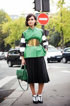 Miroslava Duma at Paris Fahion Week