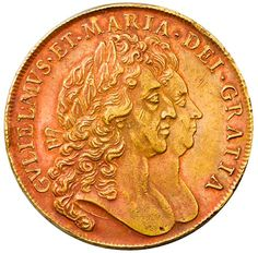Williams & Mary five guineas, 1692