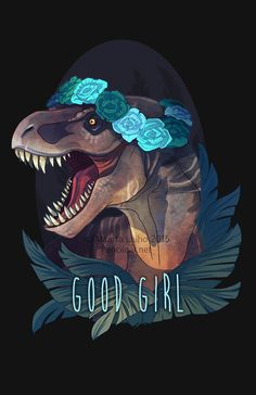 pencilcat:  She may be a bit older and grey around the edges, but she's still kicking ass and taking names - and has the battle scars to prove it. Available at Redbubble and Inprnt Additional dinos:Clever GirlRaptor SquadDinosaur Eats Man