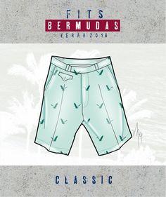 Croquis - Bermudas e shorts masculinos - Verão 2018