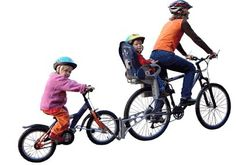 Fixtures to your bike to allow you to bring along your children safely in traffic.