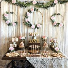 are expecting a baby soon at 🍼👶💗Baby shower sweets table in honor of this sweet baby girl! - Hochzeit -We are expecting a baby soon at 🍼👶💗Baby shower sweets table in honor of this sweet baby girl! Boho Baby Shower, Baby Shower Cakes, Baby Shower Sweets, Bridal Shower Rustic, Floral Baby Shower, Baby Shower Desert Table, Baby Shower Vintage, Erwarten Baby, Baby Birth