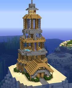 Lighthouse on an Island : Minecraftbuilds People like Minecraft because of 3 basic things, ownership, Villa Minecraft, Château Minecraft, Minecraft Lighthouse, Architecture Minecraft, Casa Medieval Minecraft, Construction Minecraft, Minecraft Building Guide, Minecraft Mansion, Minecraft Structures