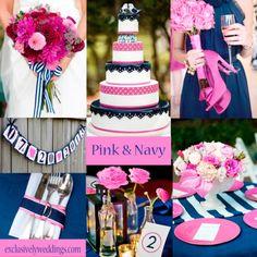 Pink and Navy Wedding @exclusivelyweddings