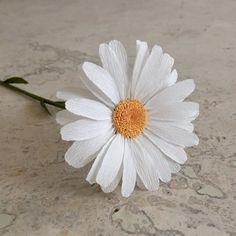 Margaritas de papel Crepe solo vástago  boda flores  casa u