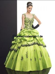 Sisi Abendkleid Ballkleid mit breitem Trägern  www.modeshop-1.de