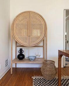 Custom Furniture, Furniture Design, Cane Furniture, Dining Room Corner, Home And Deco, Interiores Design, Crate And Barrel, Home And Living, Living Room