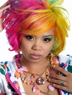 DIY Halloween Hair : Bright Hues