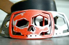SKULL BELT BUCKLE by Fosterweld by fosterweld on Etsy, $35.00