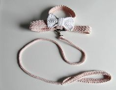 Handmade DOG harness with matching leash Pale pink harness