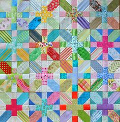 Great scrap quilt!    I have pictures of a couple of variations of this quilt.  I just love it.