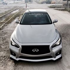 Infiniti silver and black Infiniti Q50, Dream Machine, Toys For Boys, Big Boys, Custom Cars, Cars And Motorcycles, Automobile, Vehicles, Trains