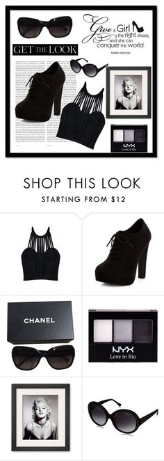 """Marilyn Monroe"" by shopoholic0708 on Polyvore featuring Oris, Posh Girl, New Look, Chanel, NYX and impressive"