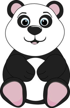 cute cartoon panda cute cartoon panda bears clip art cartoon rh pinterest com cute panda clipart free