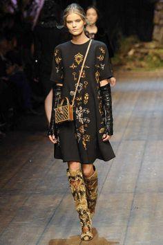Dolce & Gabbana Winter 2015 Collection #MFW #AW14  #FashionWeek